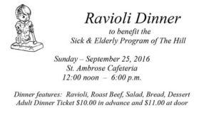 Ravioli Dinner Ticket